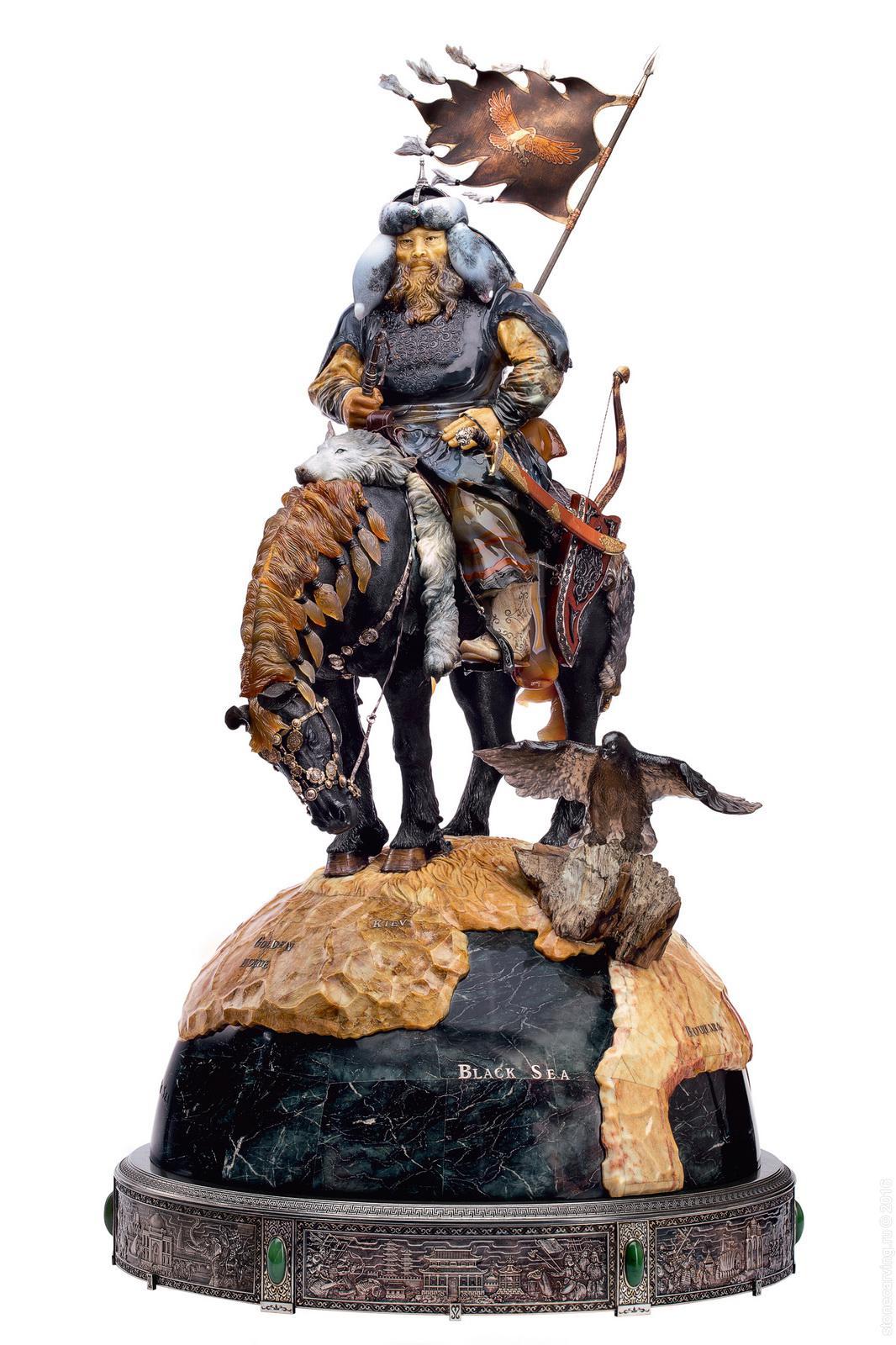 genghis khan stonecarvingru